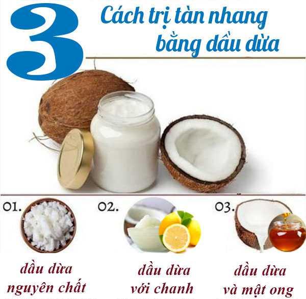 Cách trị tàn nhang bằng dầu dừa 1