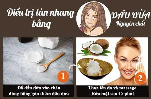 Cách trị tàn nhang bằng dầu dừa 2