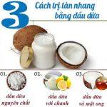 TOP 3 cách trị nám tàn nhang bằng dầu dừa hiệu quả nhất sau 1 đêm