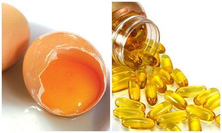mặt nạ lòng đỏ trứng gà và vitamin e 3